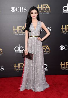 Jing Tian attends the 18th Annual Hollywood Film Awards at The Paladium on November 14, 2014 in Hollywood, California.