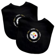 Baby Fanatic Team Color Bibs Pittsburgh Steelers 2Count -- You can get more details by clicking on the image.