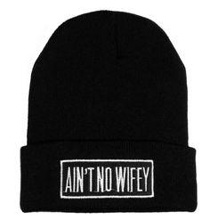 Aint No Wifey Beanie / Black henninheadwear.com on Wanelo.