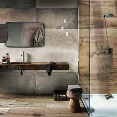 MADERAS, no solo en el suelo #arriesga #buenasnoches #goodnight #love #decoración #interiorismo #interiores #luz #light #bathroom #baño…