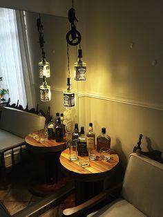 Conjunto Roldana Jack da SK - Lustres de garrafas Jack Daniel's Mais