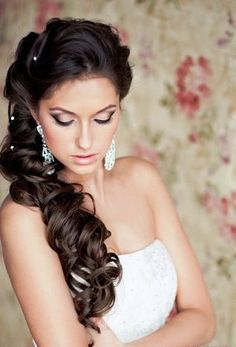 Decorated long urls and with corset dress for wedding #hot #sexy #hairstyles #hairstyle #hair #long #short #medium #buns #bun #updo #braids #bang #greek #braided #blond #asian #wedding #style #modern #haircut #bridal #mullet #funky #curly #formal #sedu #bride #beach #celebrity #simple #black #trend #bob #girls
