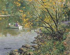 Canadian Artist Doug Laird - Gathering Wild Flowers