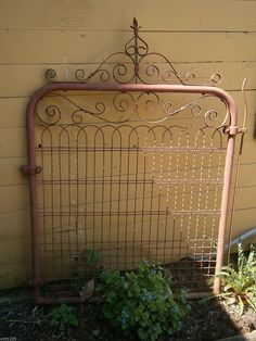 Architectural Salvage Cottage Style Wire Gate Garden Yard Art | eBay