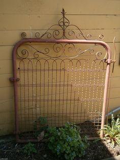 Architectural Salvage Cottage Style Wire Gate Garden Yard Art | eBay