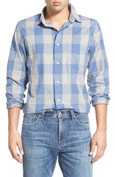 Jack Spade 'Harmon' Trim Fit Plaid Sport Shirt