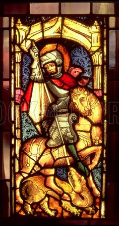 St. George and the Dragon, stained glass window