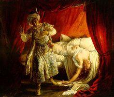 Othello- William Shakespeare's play! The scene where, Othello kills his wife Desdemona.
