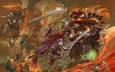 Preview wallpaper battle, fire, weapons, war