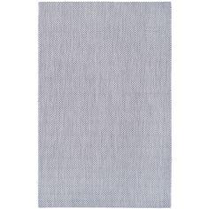 Safavieh Indoor/ Outdoor Courtyard Grey/ Navy Rug (8' x 11')
