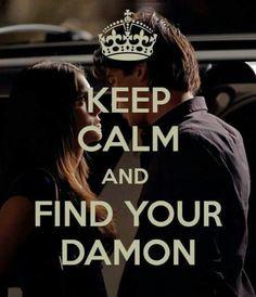 Keep calm and find your Damon Salvatore - Ian Somerhalder Vampire Diaries Memes, Vampire Diaries The Originals, Boy Quotes, Funny Quotes, Cw Series, Vampire Dairies, Mystic Falls, Vampire Academy, Stefan Salvatore