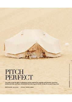 Real Living Magazine June 2017 Issue Glamping and Camping Styling tips Emperor Twin and diameter bell tent. Best Family Camping Tents, Camping Style, Bell Tent Glamping, Tent Camping, Camping Ideas, Camping Essentials, Weekend Camping Trip, Camping Life, 10 Person Tent
