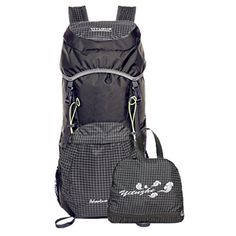 Daosen 35L Lightweight Travel Water Resistant Backpackfoldable Hiking Daypack Grey * Check out this great product.