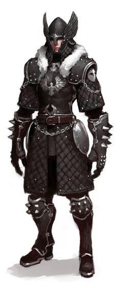 "ALDIN: ""Armour and fur combination.  I like the winged helm Idea.""(http://www.pinterest.com/javidante/fantasy-warriors/, 2014.)"