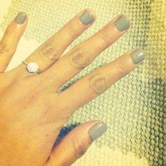 My Satomi Kawakita engagement ring. :)