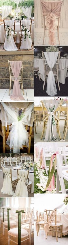 wedding chair decoration ideas with fabric and ribbons #weddingdecoration