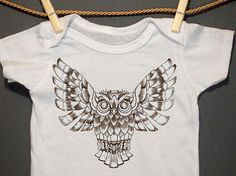 Hey, I found this really awesome Etsy listing at http://www.etsy.com/listing/162114411/barn-owl-bodysuit-printed-creeper-black