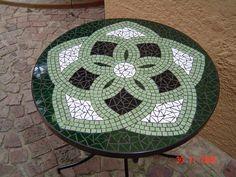 Mandala mosaic table by Lisa B's Art Studio, follow me on Facebook