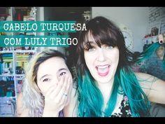 Cabelo turquesa com Diesel Green (Keraton Hard Colors) | Serendipity Melina Souza - Serendipity <3 Luly Trigo <3  #Hair  #Blue  #Serendipity