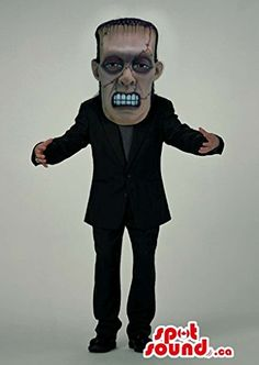 Real-Looking Scary Frankenstein Character Mascot SpotSound US With Black Gear @ niftywarehouse.com #NiftyWarehouse #Frankenstein #Halloween #Horror #HorrorMovies #ClassicHorror #Movies