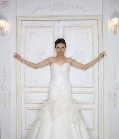 La Perla (2) Designer Wedding Gowns, Designer Gowns, Plus Size Designers, Crystal Beads, Veil, Bridal Gowns, One Shoulder Wedding Dress, High Fashion, Bride