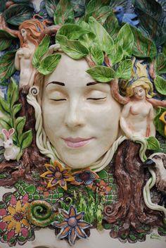 Ceramic Masks by Jillian Barber, via Behance