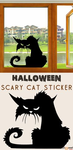 US$1.29 + Free Shipping. Halloween scary cat sticker. Waterproof. Are you guys get ready for Halloween?