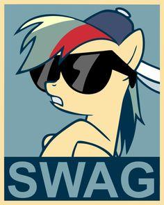 Rainbow Dash Swag poster by Fluffytuzki on DeviantArt