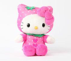 """Hello Kitty 8"""" Fruit Plush: Strawberry"""