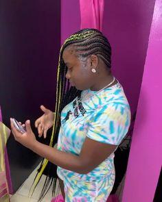 Braided Cornrow Hairstyles, Feed In Braids Hairstyles, Black Girl Braided Hairstyles, All Hairstyles, Black Women Hairstyles, Cornrows, Hairdos, Protective Style Braids, Lemonade Braids Hairstyles