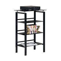 Realspace(R) Lake Point 3-Shelf Bookcase, Black