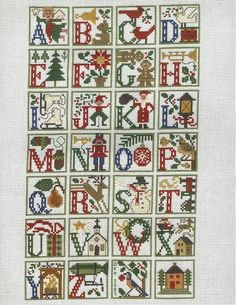prairie schooler christmas alphabet sampler. wow!