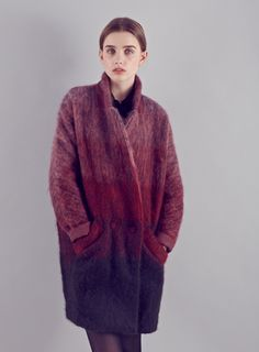 Parisian sunrise mohair coat