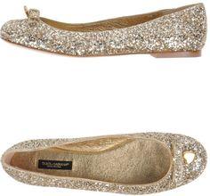 Dolce & Gabbana Gold Ballet Flats