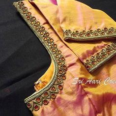 End Customization with Hand Embroidery & beautiful Zardosi Art by Expert & Experienced Artist That reflect in Blouse , Lehenga & Sarees Designer creativity that will sunshine You & your Party. Cutwork Blouse Designs, Simple Blouse Designs, Stylish Blouse Design, Bridal Blouse Designs, Blouse Neck Designs, Hand Work Blouse Design, Aari Work Blouse, Maggam Work Designs, Designer Blouse Patterns