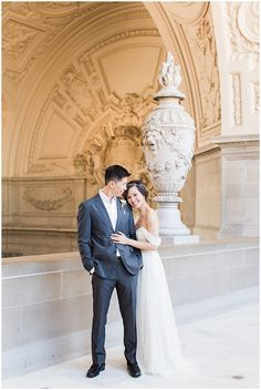 San Francisco City Hall Wedding Photography   Jenny Yoo Dress   Valentino Shoes   Blueberry Photography   Film Wedding Photography   Studio Choo Floral Bouquet