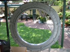 handmade backyard Stargate- would love to have one of these!