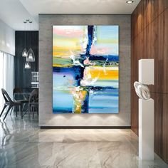 Extra Large Wall Art Original Art Bright Abstract Original Painting On Canvas Extra Large Artwork Contemporary Art Modern Home Decor Large Abstract Wall Art, Large Artwork, Extra Large Wall Art, Abstract Canvas, Canvas Wall Art, Texture Painting On Canvas, Canvas Paintings, Abstract Paintings, Large Painting