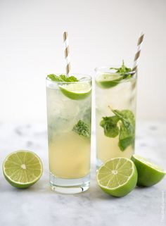 Gin and ginger cocktails