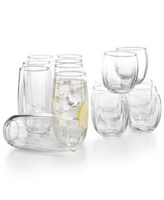 Libbey Samba 16-Pc. Glassware Set $14.99 Glass act. A gently faceted surface adds definition to the round silhouettes of Libbey's Samba glassware set, featuring highball and double old-fashioned varieties.