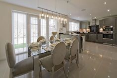 Grey/Silver kitchen Taylor Wimpey Show home kitchen Kitchen Cabinets Decor, Kitchen Interior, Kitchen Ideas, Kitchen Design, Small Space Interior Design, Interior Design Living Room, Luxury Kitchens, Home Kitchens, Wimpey Homes