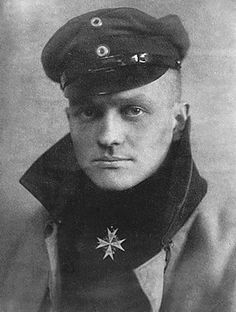 Manfred von Richthoven, the Red Baron, killed in action April 1918.  The History Place - World War I Timeline - 1916 - War in the Sky