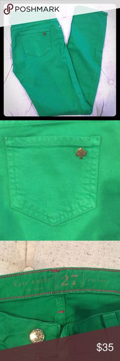 Kate Spade Kelly Green Jeans Kate Spade Broome Street size 27 Kelly Green jeans. In very good condition, worn only once, just too large for me! kate spade Pants Straight Leg