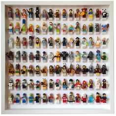 The ultimate solution to your Lego minifigures. Show them in an organized way and keep them safe and dust free. It can hold 105 Lego minifigures Available wi