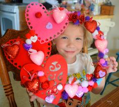 DIY dollar spot at Target Wreaths for kids. Cardboard wreath from Michale's. Easy and fun Valentines Day wreath for kids to make. Great kids craft.