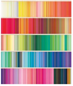Not just a rainbow....a colored pencil rainbow!