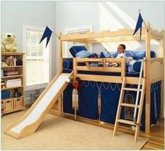 Bunk beds with slides are one of the most exciting bedroom furniture items you can buy for your child. The dynamic quality of the slide matched with the stable usability of a good quality kid's bunk bed is rarely matched in any other type of bedroom...