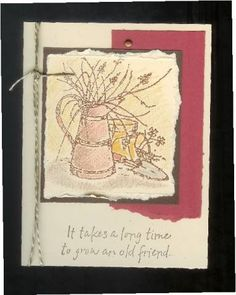 Pencil over embossing by countrybeamer - Cards and Paper Crafts at Splitcoaststampers Friend Cards, Cards For Friends, Long Time Friends, Old Friends, Emboss, Stampin Up, Stamps, Pencil, Paper Crafts