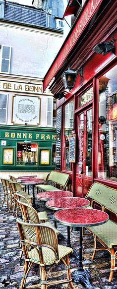 Montmartre, Paris, France by lucy Montmartre Paris, Louvre Paris, Paris France, Provence France, Belle France, Sidewalk Cafe, Parisian Cafe, Little Paris, Outdoor Cafe