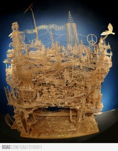 Dedication you say?    100 000 toothpicks and 35 years